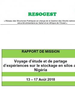 Rapport du  voyage d'étude et de partage d'expériences sur le stockage en silos du 13 au 17 août 2018 au Nigéria