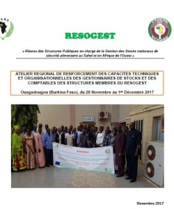Rapport Atelier régional de renforcement des capacités des gestionnaires de stocks et des comptables 28 nov-1er déc. 2017  Ouagadougou (Burkina Faso)