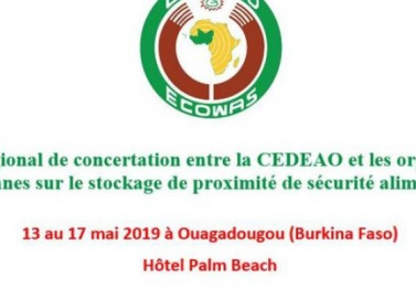Atelier régional de concertation entre la CEDEAO et les organisations paysannes sur le stockage de proximité de sécurité alimentaire