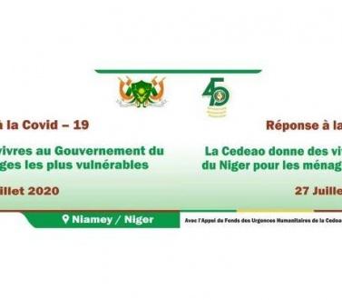 Réponse à la Covid-19 : la Cedeao donne des vivres au Niger