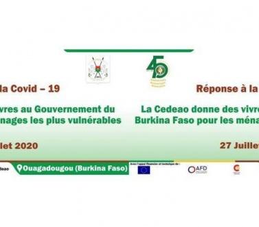 Réponse à la Covid-19 : la Cedeao donne des vivres au Burkina Faso